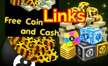 8 ball pool free coins and cash links