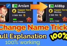 8 ball pool name change trick