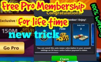 8 ball pool free pro membership