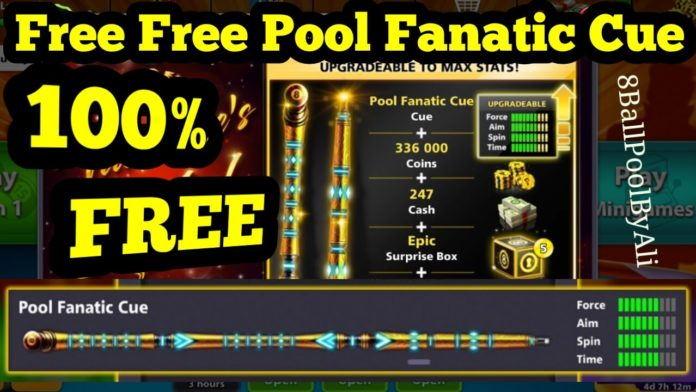 free pool fanatic cue