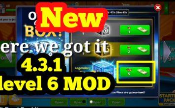 8 Ball Pool 5 Cash Legendary Box Trick On Version 4.3.1 Level 6 MOD