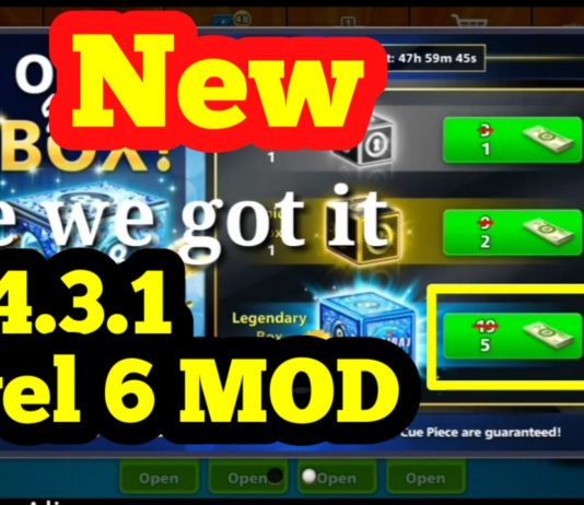 8 Ball Pool 5 Cash Legendary Box Trick On Version 4.3.1 Level 6 MOD