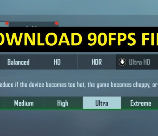 Download 90FPS File For PUBG MOBILE